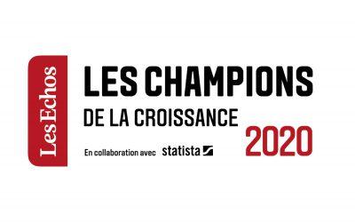 Xelya fait partie des Champions de la Croissance France 2020, par Les Echos
