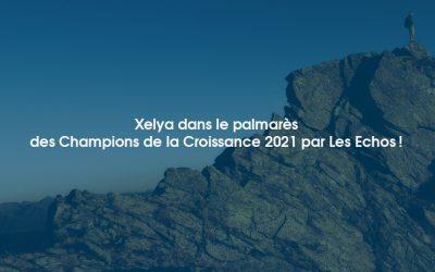 Xelya dans le Palmarès des Champions de la Croissance 2021 en Francepar Les Echos!